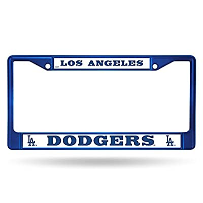 Rico Industries MLB LA Dodgers Blue Chrome License Plate Frame: Automotive