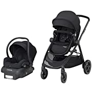 Maxi-COSI Zelia 5-in-1 Modular Travel System - Stroller and Mico 30 Infant Car Seat Set, Night Black
