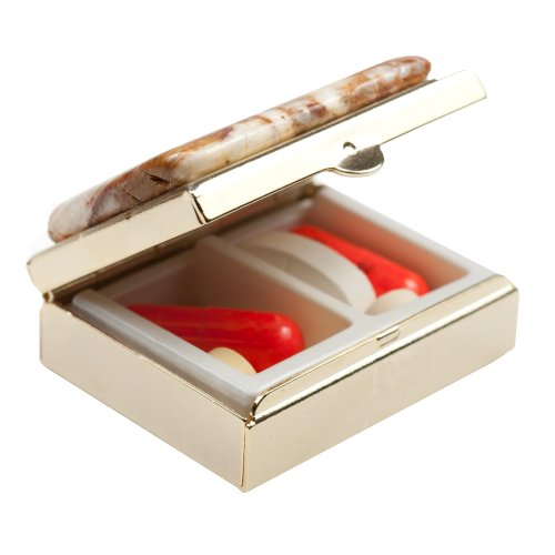 Polished Stone Compartment Pill Box