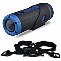 Becoler Powerful Night Vision warrior Full HD 1080P Sports Action Camera Waterproof with 32GB MicroSD card (Helmet Strap included)