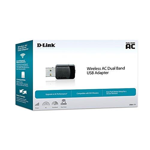 D-Link Wireless Dual Band AC600 MU-Mimo USB Wi-Fi Network