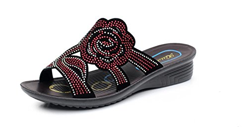 pengweiSandalo spessa estate sandali pendio morbido con grandi pantofole donne incinte