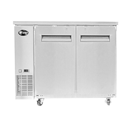 "Price comparison product image Saba Air 60"" Two Door Back Bar Cooler- Stainless Steel"