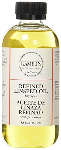 Gamblin 8.5 Oz Refined Linseed Oil (ANG06008) ()