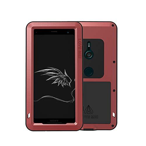 Sony Xperia XZ3 アルミケース 金属合金 LOVE MEI 正規品 耐衝撃 防水 防塵 Sony Xperia XZ3 ケース アルミバンパー ケース 強化ガラス内蔵 タフ ケース Sony Xperia XZ3 ハード ケース (XZ3 6.0