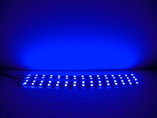 4 pack BLUE Super Bright 5050 LED Strips - 15 LEDs Per Flexible Strip - 30cm long - 12V - Adhesive Backed