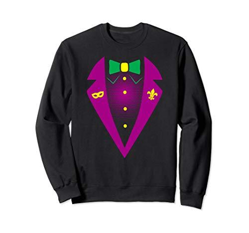 Tux Sweatshirt (Mardi Gras Tuxedo Costume Party Tux Sweatshirt)