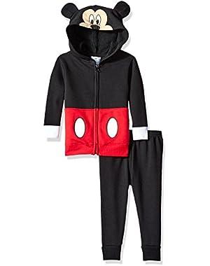 Baby Boys' 2-Piece Mickey Mouse Costume Hooded Sweatshirt with Fleece Pant