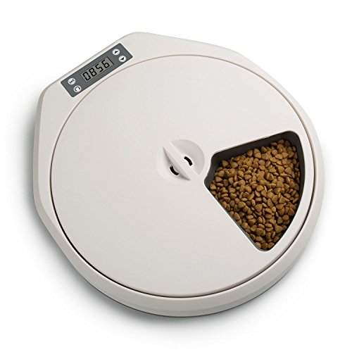 PAWISE 5-Meal Automatic Feeder for Dogs and - Five Pet Automatic Meal Feeder