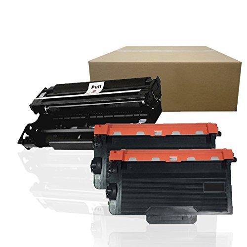Inktoneram Compatible Toner Cartridges & Drum Replacement for Brother TN850 DR820 DR-820 TN-850 MFC-L6800DW MFC-L6900DW MFC-L5850DW MFC-L5700DW ([Drum, 2-Toner], 3-Pack)