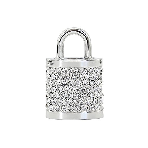 Crystal Lock Shape 64GB USB 2.0 Flash Drive Thumb Drive Memory Stick Shining Jewelry Pen Drive U Disk Data Storage Jump Drive for - Bling Drive Flash