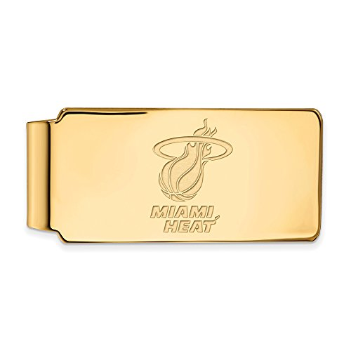 NBA Miami Heat Money Clip in 14K Yellow Gold by LogoArt