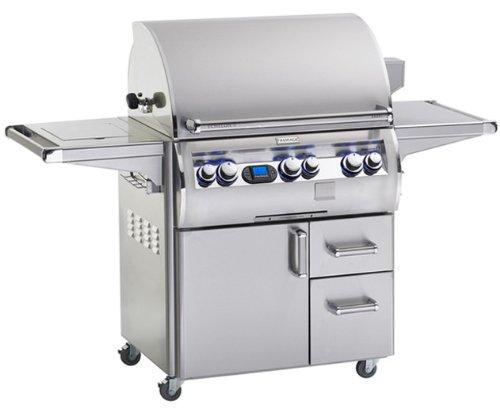 Fire Magic E660s-4L1P-62 Echelon Diamond E660s Propane Gas Grill Single Side Burner One Infrared Burner On (62 Fire Magic Grills)
