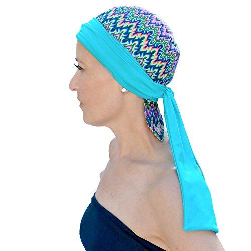 Bandiva Multicolor Headwrap for Swim, Sleep, Chemo, Cancer (Zig Zag)