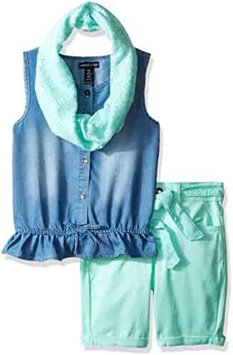 Limited Too Girls' 2 Piece Sleeveless Top and Bermuda Short