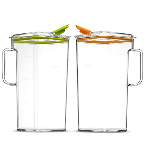 Komax Tritan Clear Large (2 quart) Pitcher With Green Lid BPA-Free - Great for Iced tea & Water by Komax (Image #4)