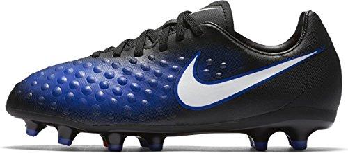 NIKE Kids Magista Opus II FG Soccer Cleat Black, Blue Black/White Paramount Blue