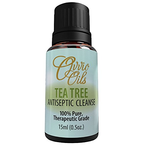 Tea Tree Essential Oil By Ovvio | Essential Oils for Holistic Health and Natural Antibacterial Healing | 100% Pure Aromatherapy Oil | Pure Oil from the Australian Tea Tree | Large 15ml (Freeze Away Large compare prices)