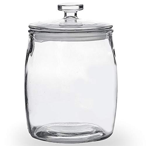 (Folinstall72 FL OZGlass Jarswith Lids, Glass Storage Canister Great for Cereal, Candy, Nuts, Sugar, Flour, Chip and Cookies, Clear, 0.56 Gallon)