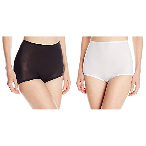 Bali Women's Skimp Skamp Brief Panty, Black/White, ()