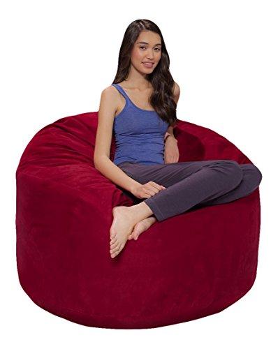 Merlot Bean Bag Chair - Comfy Sacks 4 ft Memory Foam Bean Bag Chair, Merlot Cords
