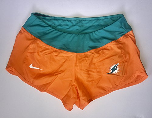 Women's Large Miami Dolphins Nike Gear Up Crew Performance Shorts - Orange by NIKE