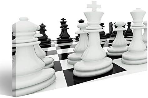 Quadro moderno Figure de ajedrez sobre un tablero de ajedrez ...
