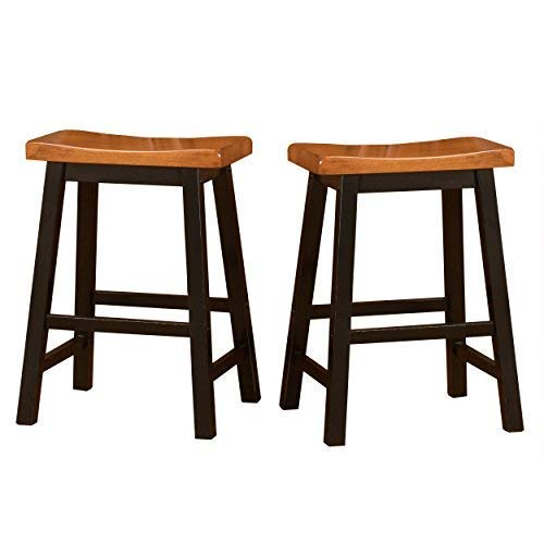 POMEROY 24in SADDLE STOOL (Set of 2) by Christopher Knight Home