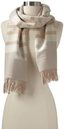 Portland Collection by Pendleton Women's Fringed Scarf, Painted Hills Sand, One Size
