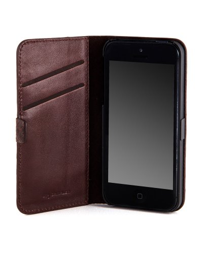 Camalen CNovel-TC Novel Leather Case for iPhone 5 - 1 Pack - Retail Packaging - Tan ()