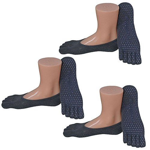 Women's Non Skid Socks No-Show Low-Cut Sock Liners - 3 Pa...