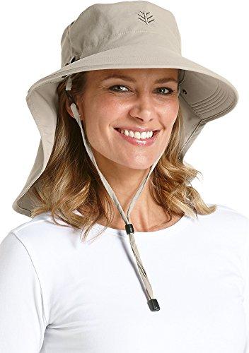 Coolibar UPF 50+ Women's Ultra Sun Hat - Sun Protective (One Size- Stone)