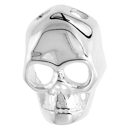 Sterling Silver Skull Necklace Polished