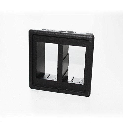 (X-Haibei 2pcs Rocker Switch Panel Switch Holder Housing Kit Black Plastic)