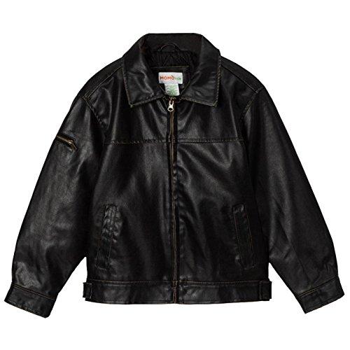 Momo Grow Big Boys Faux Leather Flight Bomber Jacket