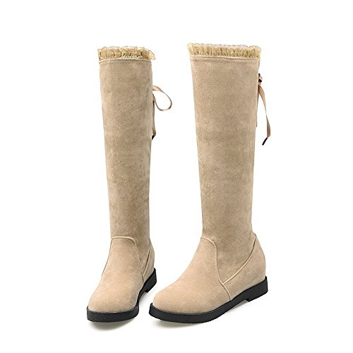 Round Womens Apricot Toe BalaMasa Urethane On Boots Pull Boots cRqUaT