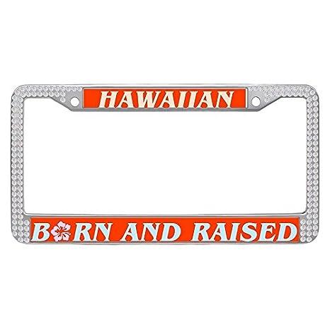 Amazon.com: Hensonata Sparkle white crystal License Plate Frame ...