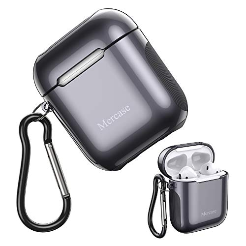 AirPods Case Cover with Keychain,Ultra Soft TPU Plated Case Shockproof Protective Cover Support Wireless Charging Front LED NOT Visible - Compatible with AirPods 2 & 1