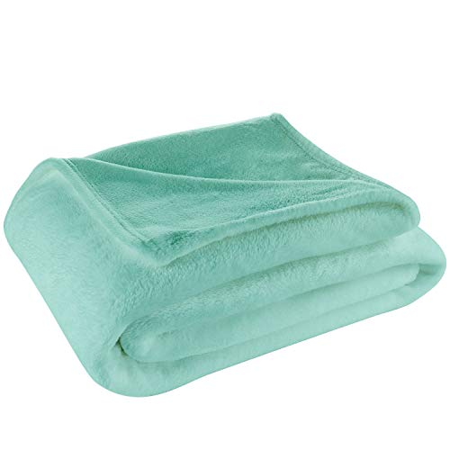 Cosy House Collection Throw Size Fleece Blanket - All Season, Lightweight & Plush Hypoallergenic - Microfiber Blankets for Bed, Couch or Travel - Turquoise (Series Blanket Throw Fleece)
