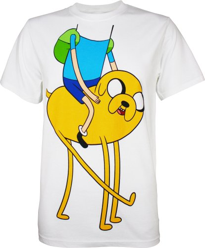 Adventure Time With Finn And Jake Friends Costume Men's Adult T-shirt XL (Finn Jake Costume)