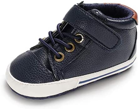 41HgvtFhSLL. AC - LAFEGEN Baby Boys Girls Oxford Dress Shoes Non Slip Lace Up Sneaker PU Leather Moccasins Newborn Infant Toddler Loafers First Walker Crib Shoes 3-18 Months