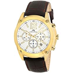 Porsamo Bleu Nathan Genuine Leather Gold Tone & Brown Men's Watch 641BNAL