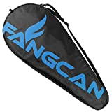 FANGCAN Single Tennis Racquet Cover Black Tennis Racket Bag with Adjustable Shoulder Strap