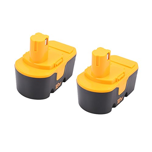 Energup Ryobi One Plus P100 P101 Replacement Battery 2 Pack Ryobi 18V Battery 3.0Ah for Ryobi 18V Cordless Power Tools