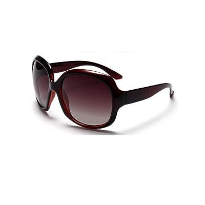 KSDSDHFK Gafas de Sol polarizadas de Moda para Mujer, Gafas de Sol con protección UV, Gafas de Sol de Gran tamaño, Espejo de Playa para Exteriores, sombrilla clásica, marrón: Deportes y aire libre
