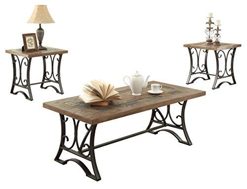 black oak coffee table - 4