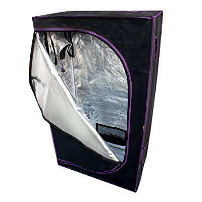 "Apollo Horticulture 36""x20""x62"" Mylar Hydroponic Grow Tent for Indoor Plant Growing"