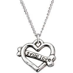 Rockin Doggie Sterling Silver Necklace, True Love Heart
