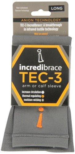 INCREDIWEAR Calf Sleeve, Charcoal, Large, 0.03 Pound by Incrediwear