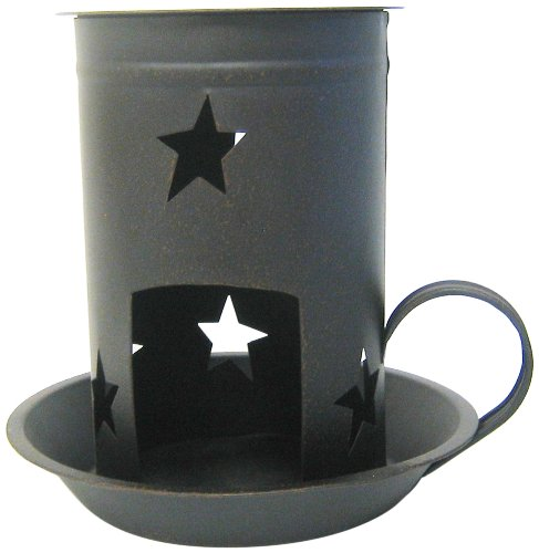 (Craft Outlet Star Candle Tart Warmer, 8 by 7.5-Inch, Black)